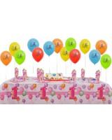 8 Kişilik First Birthday Pink Mini Set..